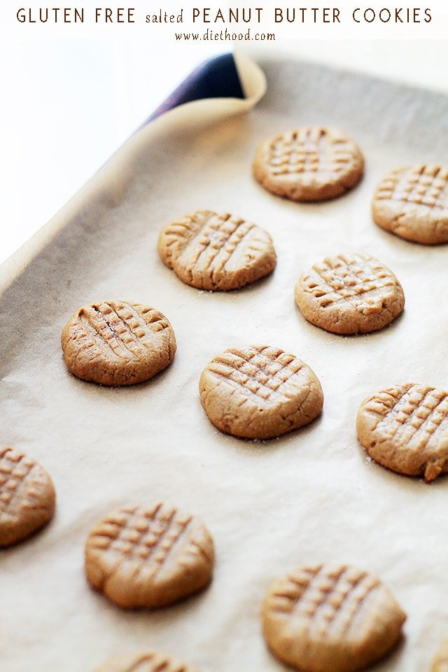 Gluten Free Salted Peanut Butter Cookies | www.diethood.com | Made ...