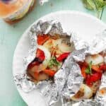 Italian Chicken and Vegetables In Foil Recipe | Easy Chicken Foil Packets