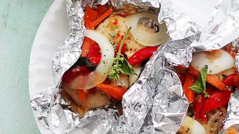 Italian Chicken And Vegetables In Foil Recipe Diethood