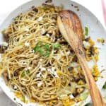 Leek and Mushroom Fettuccine Pasta Dinner | Easy Mushroom Pasta