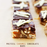 Pretzel Caramel Chocolate Candy Bars