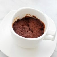 Pumpkin Chocolate Mug Cake | www.diethood.com | Single Serving Pumpkin Chocolate Mug Cake that is ready in 4 minutes, including prep time!