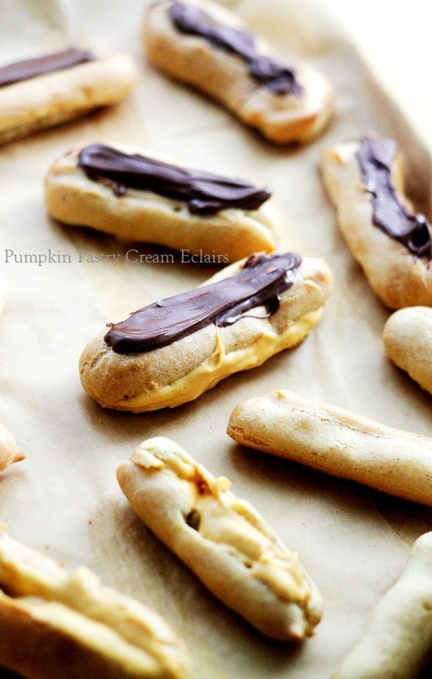Cream Eclairs | www.diethood.com | Delicious, crispy pastry filled ...