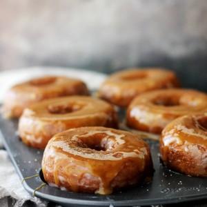 Salted Caramel-Glazed Pumpkin Donuts