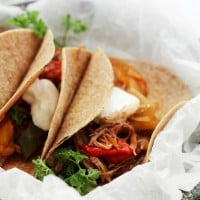 Crock Pot Beef Fajitas | www.diethood.com | Make the best, most delicious Crock Pot Beef Fajitas with this super easy recipe! Place beef, onions, bell peppers, and spices in the crock pot and forget about it!
