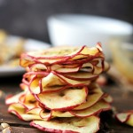 Apple Chips | www.diethood.com | Thin and crispy Apple Chips made in the microwave! All you need is 6-minutes, give or take, before you can devour this delicious and healthy Fall snack!