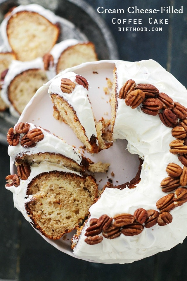 Cream Cheese-Filled Coffee Cake – With a rich cream cheese icing and ...
