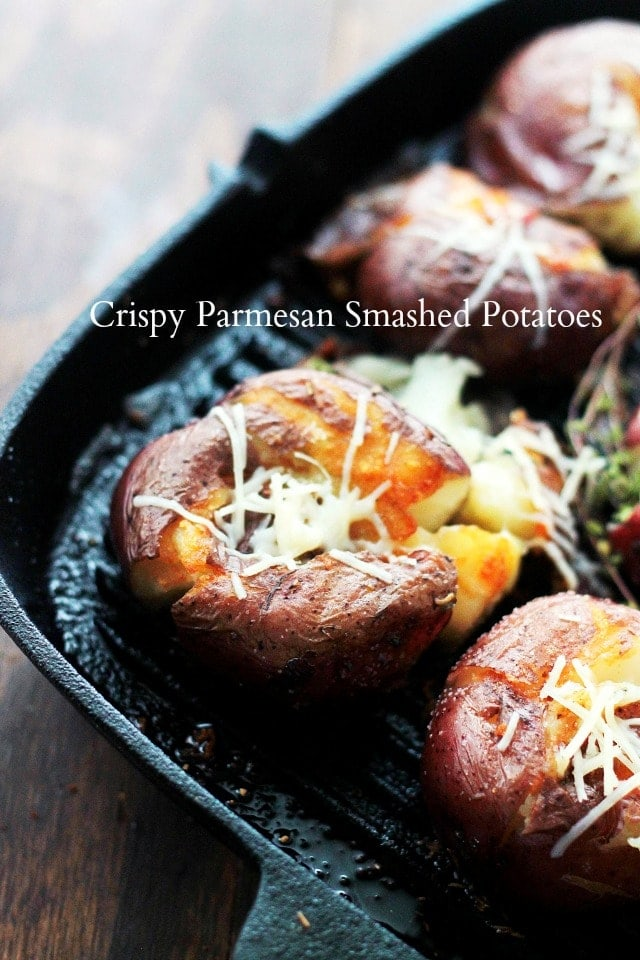 Red Smashed Potatoes With Parmesan Recipe