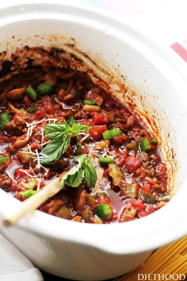 Crock Pot Spaghetti Sauce Italiano | Better Homes and Gardens New Cook ...