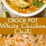 crock pot white chicken chili long pinterest image