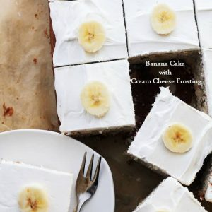 Banana Cake with Cream Cheese Frosting is asoft, fluffy and incredibly moist cake topped with the best ever cream cheese frosting. Itis the most delicious way to enjoy your ripebananas.