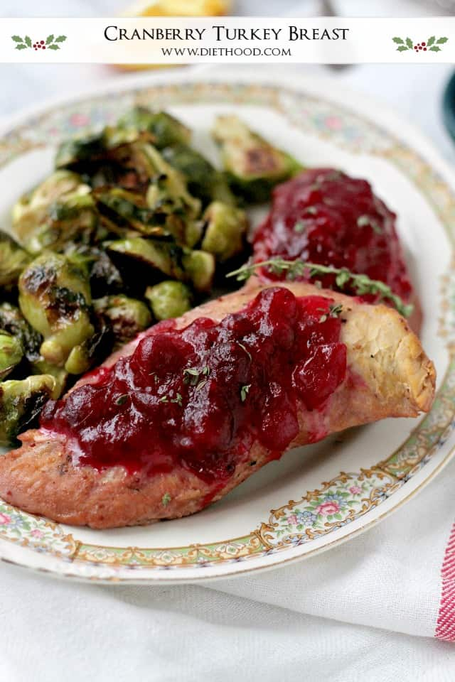 Cranberry Turkey Breast | www.diethood.com | Tender and juicy turkey breasts cooked in a sweet and delicious cranberry sauce.