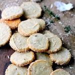 Garlic Parmesan Blue Cheese Crackers