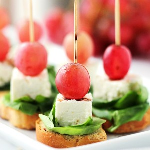 Macedonian-Style Grape Caprese Salad