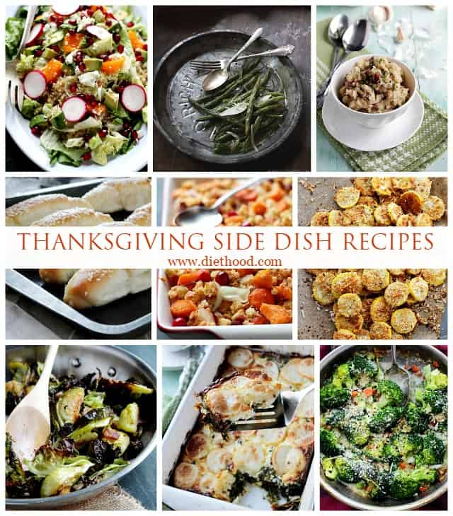 Thanksgiving Side Dish Recipes Roundup