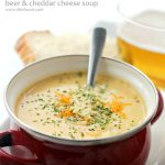 Beer and Cheddar Cheese Soup + Blendtec Giveaway