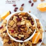 Orange and Cranberry Chex Mix Recipe | Homemade Oven Chex Mix