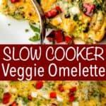 slow cooker veggie omelette pinterest image