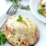 Poached Eggs Salmon with Cheese Sauce