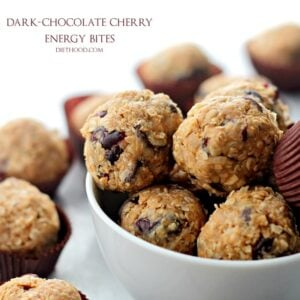 Dark Chocolate Cherry Energy Bites – No Bake