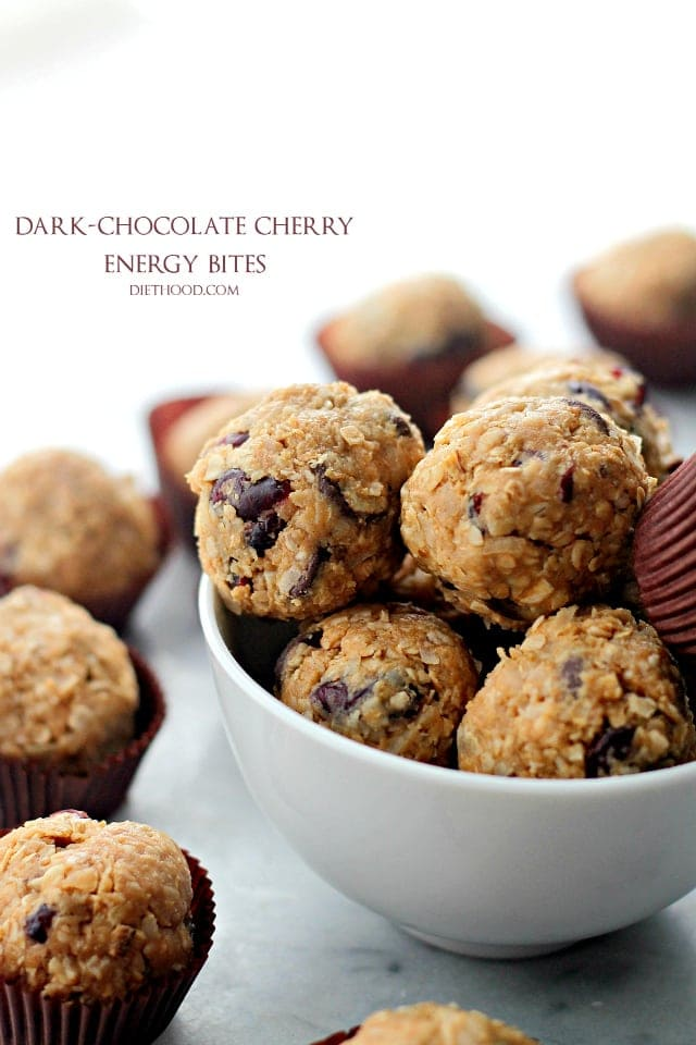Dark Chocolate Cherry Energy Bites