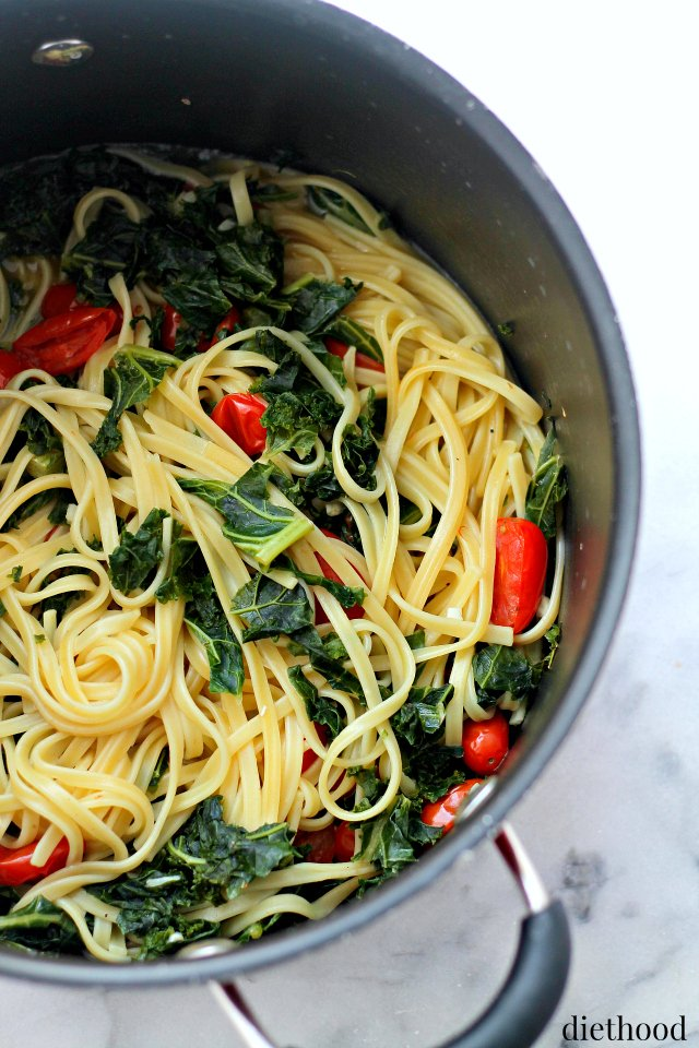 Kale and Feta One-Pot Pasta Recipe by Diethood @FoodBlogs