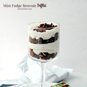 Mint Fudge Brownies Trifle   Thingamajig Tuesdays with Fiber One
