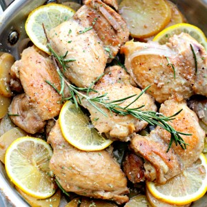 {One-Pot} Lemon Chicken and Potatoes