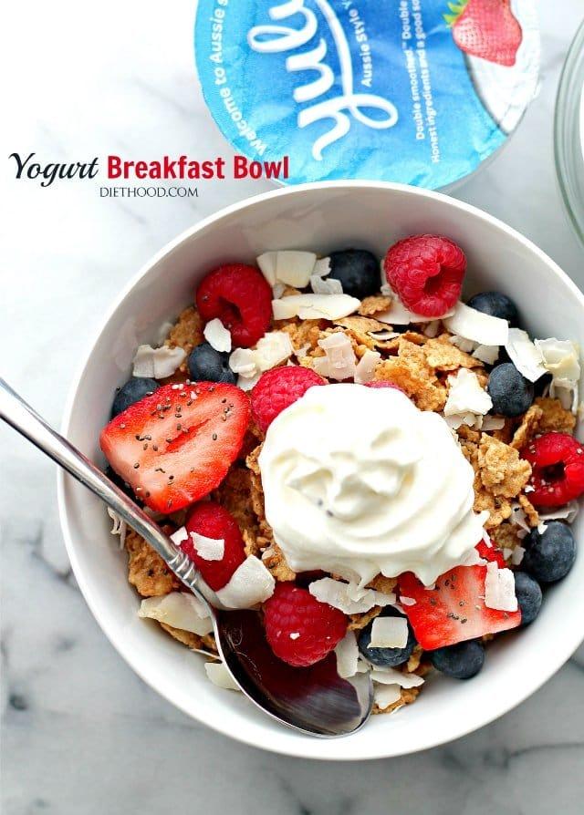 Yogurt breakfast bowl recipe diethood yogurt breakfast bowl diethood make your favorite morning meals more ccuart Image collections