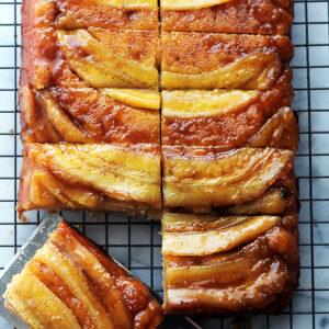 Bananas Foster Upside Down Cake