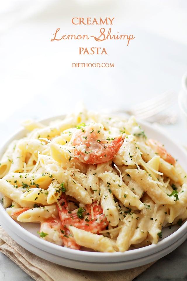 Creamy Lemon-Shrimp Pasta