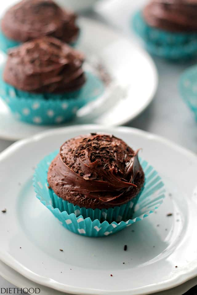 Devil's Food Cupcakes with Chocolate Frosting