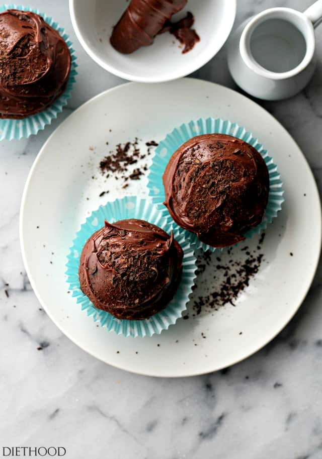 Homemade Cupcakes with Chocolate Frosting