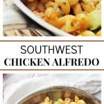 Southwest Chicken Alfredo photo collage
