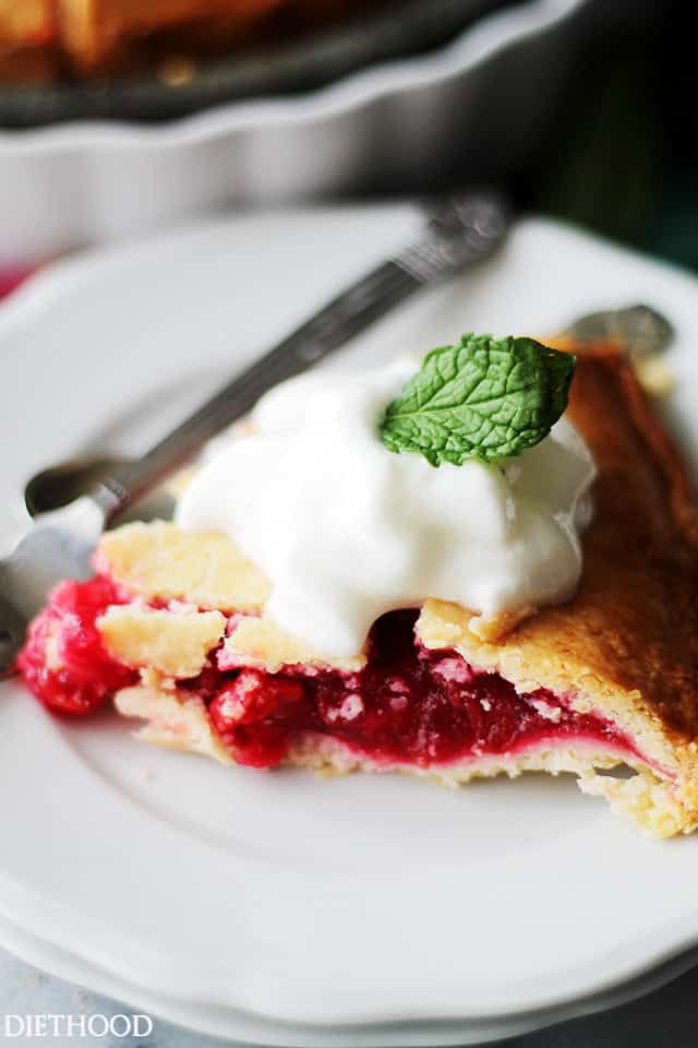 Berry Pie | www.diethood.com | Lightened-up flaky pie crust filled with a delicious variety of berries.