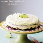 Coconut Lime Ricotta Cake {Flourless}