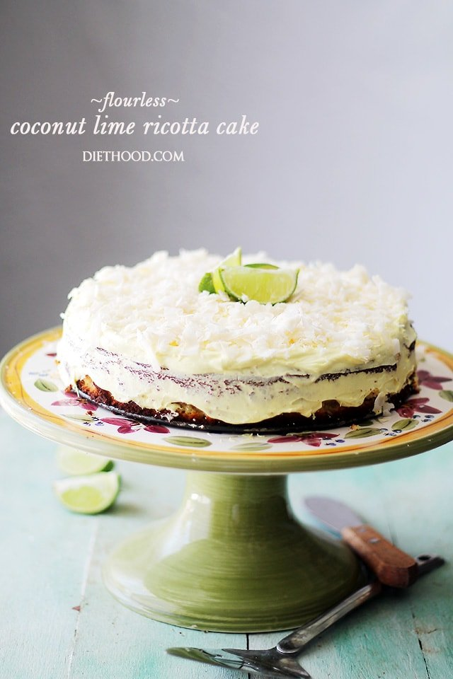 Coconut Lime Ricotta Cake {Flourless} – Bright, light and incredibly ...