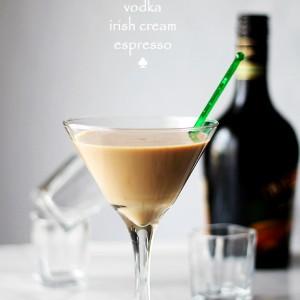 Irish Martini | www.diethood.com | A splash of vodka, some strong espresso and a good dose of Irish Cream create this rich and so delicious Irish Martini.