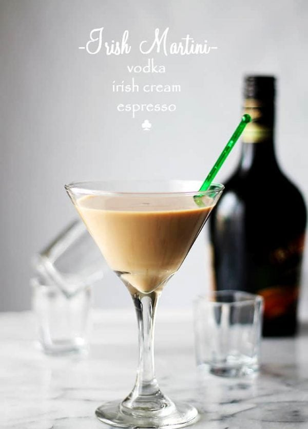 Irish Martini | www.diethood.com | A splash of vodka, some strong espresso and a good dose of Irish Cream create this rich and so delicious Irish Martini.