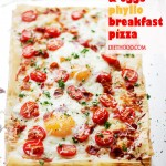 Bacon and Eggs Phyllo Breakfast Pizza