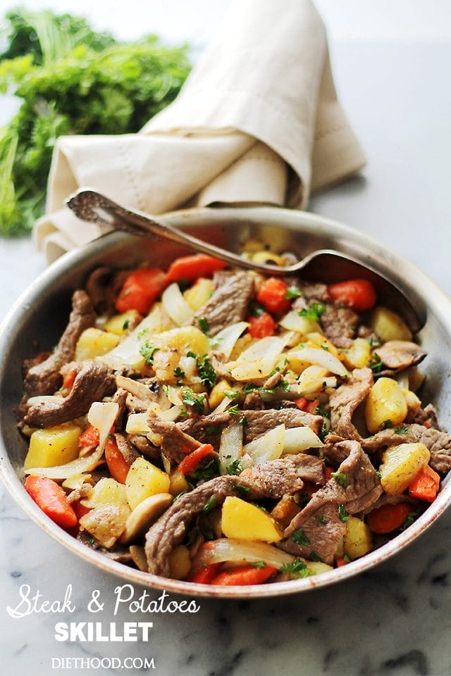 Steak And Potatoes Skillet Recipe Diethood