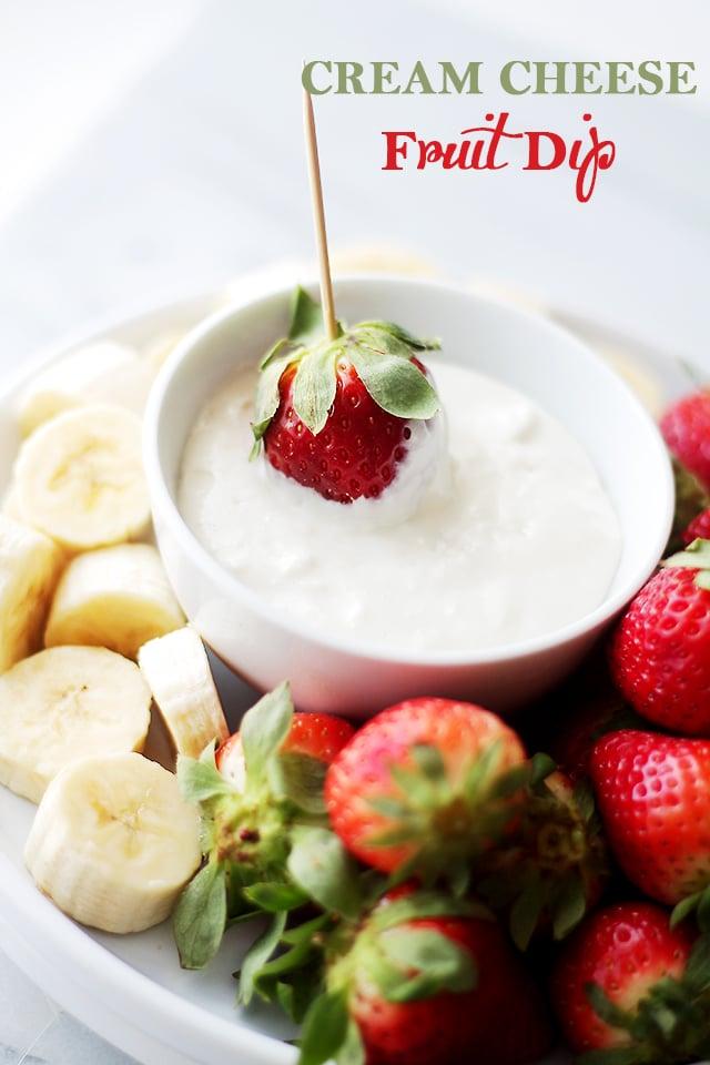 fruit drinks fruit dip cream cheese