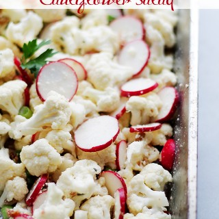 Garlic Parmesan Cauliflower Salad