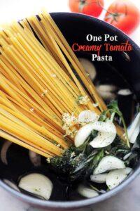 Creamy Tomato One Pot Pasta Recipe | Easy & Quick Pasta Dinner Idea