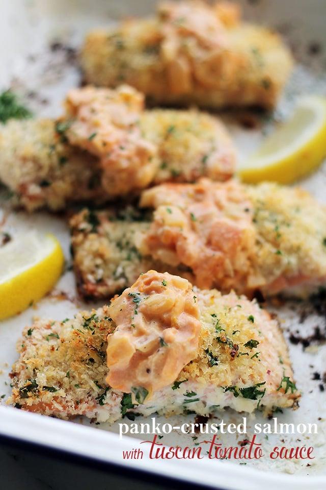 Panko-crusted Salmon Recipe — Dishmaps