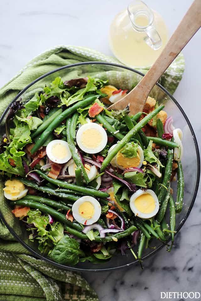 Салат со стручковой фасолью и яйцом рецепт с