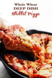 Whole Wheat Deep Dish Pizza Recipe | Easy Deep Dish Pizza in a Skillet