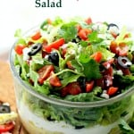 Mediterranean Seven-Layer Dip - A fantastic Mediterranean Seven Layer Dip with garlic hummus, yogurt, artichokes, olives, feta cheese and more. The perfect salad for parties, picnics and family get-togethers. Get the recipe on diethood.com