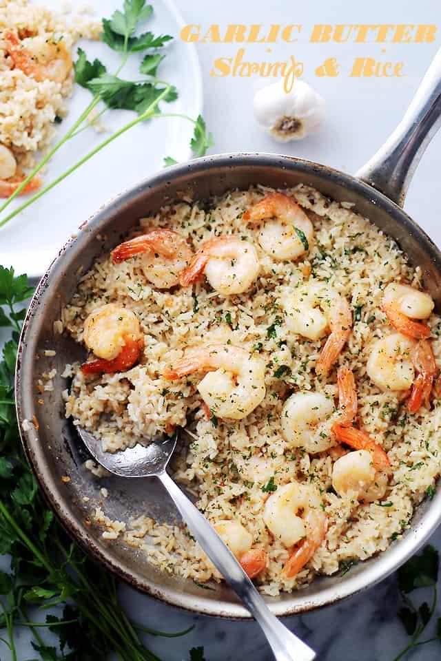 Garlic Butter Shrimp & Rice Recipe | Easy & Delicious Shrimp Dinner Idea