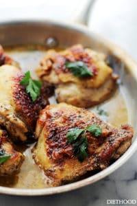Lemon Paprika Chicken Thighs Recipe | Quick Chicken Dinner Idea